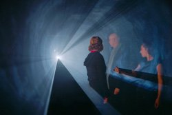 Anthony McCall - Light describing a cone