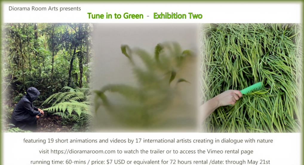 online video exhibition Tune in to Green features 19 short videos by artists focusing on nature