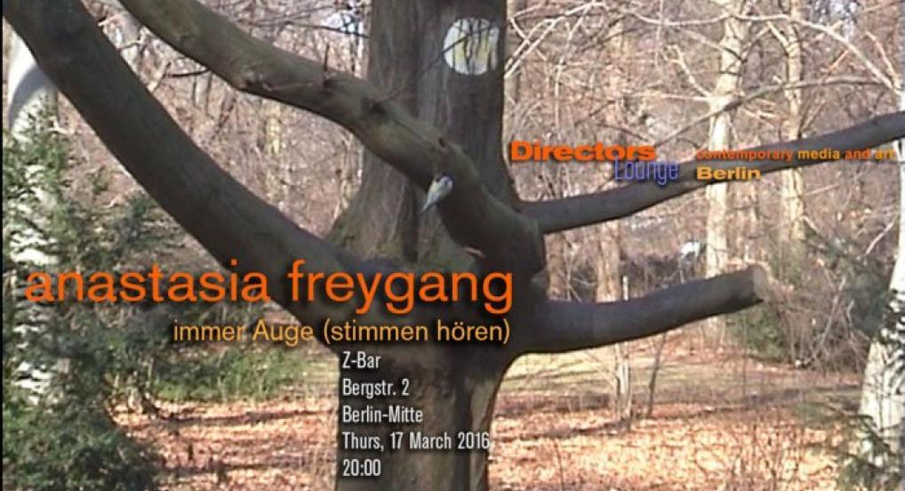 Anastasia Freygang  - immer Auge (stimmen hören)
