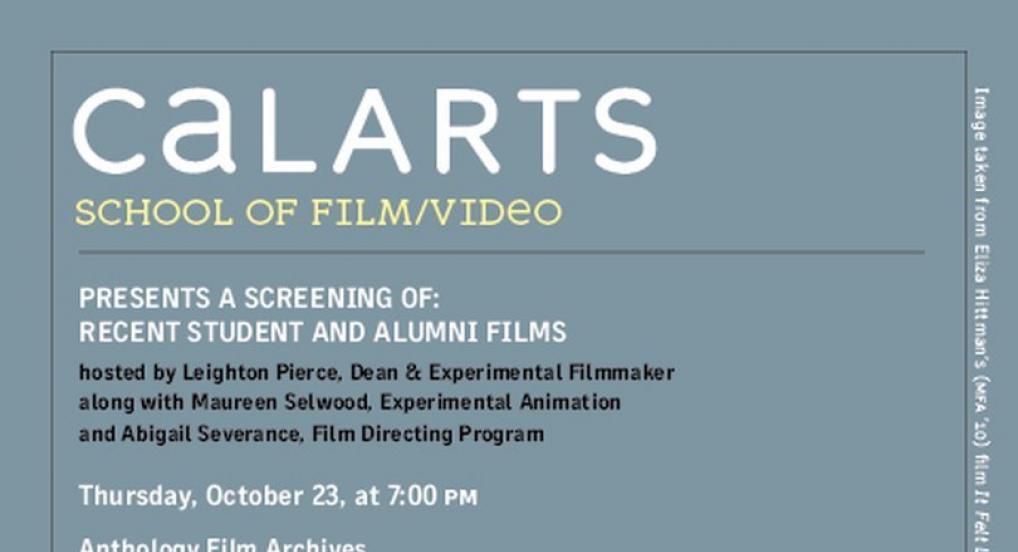 CalArts at Anthology Invitation