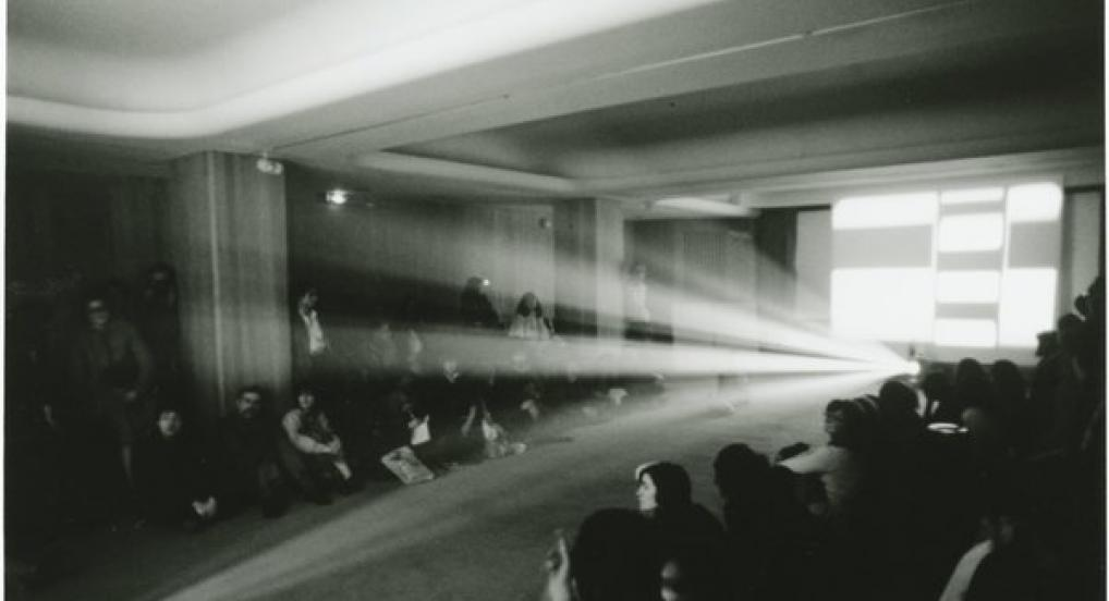 Light Music by Lis Rhodes (Installation shot) 1974
