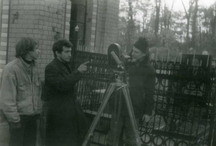 Dmitry Frolov on the set of the film