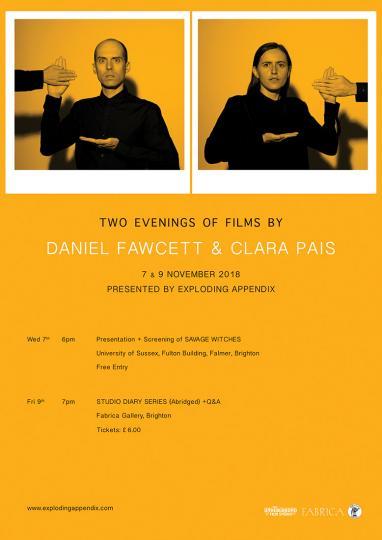Two Evenings of Films by Daniel Fawcett & Clara Pais