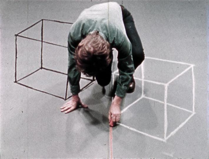 Cube and Room Drawings (David Haxton, 1976-77)
