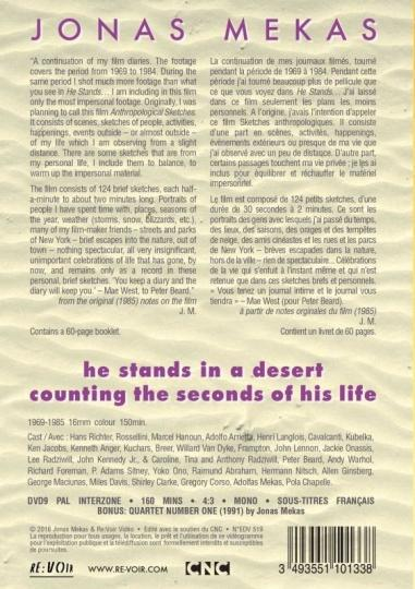 Jonas Mekas - He stands in a desert counting the seconds of his life